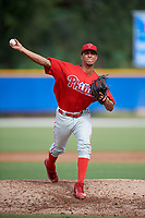 Philadelphia Phillies pitcher Luis Carrasco (67) delivers a pitch during an Instructional League game against the Toronto Blue Jays on October 7, 2017 at the Englebert Complex in Dunedin, Florida.  (Mike Janes/Four Seam Images)
