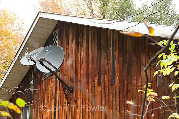 Satellite Dishes on rural home