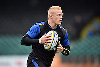 Tom Homer of Bath Rugby in possession. Bath Rugby Captain's Run on October 30, 2015 at the Recreation Ground in Bath, England. Photo by: Patrick Khachfe / Onside Images