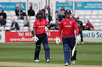 Varun Chopra of Essex celebrates reaching 150 runs during Essex Eagles vs Gloucestershire, Royal London One-Day Cup Cricket at The Cloudfm County Ground on 7th May 2019