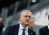 Lazio's president Claudio Lotito inspects the pitch of the Juventus Stadium, ahead of the FIFA World Cup 2018 qualification match between Italy and Spain, in Turin, 5 October 2016.<br /> UPDATE IMAGES PRESS/Isabella Bonotto
