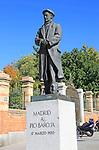 Statue of writer Pío Baroja y Nessi 1872-1956, near Retiro Park, Madrid, Spain