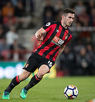 Lewis Cook of AFC Bournemouth during the Premier League match between Bournemouth and Manchester United at the Goldsands Stadium, Bournemouth, England on 18 April 2018. Photo by Andy Rowland.