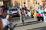 Nico Denz (GER) AG2R La Mondiale on the San Luca climb during Stage 1 of the 2019 Giro d'Italia, an individual time trial running 8km from Bologna to the Sanctuary of San Luca, Bologna, Italy. 11th May 2019.<br /> Picture: Eoin Clarke | Cyclefile<br /> <br /> All photos usage must carry mandatory copyright credit (© Cyclefile | Eoin Clarke)
