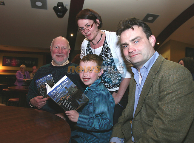 Co-editors, Roger Hudson and Barbara Smith with the youngest contributor to the book, Steven Brennan and Joe Woods, Director of Poetry Ireland at the Launch of Drogheda Writes 2...Photo NEWSFILE/Jenny Matthews.(Photo credit should read Jenny Matthews/NEWSFILE)....This Picture has been sent you under the condtions enclosed by:.Newsfile Ltd..The Studio,.Millmount Abbey,.Drogheda,.Co Meath..Ireland..Tel: +353(0)41-9871240.Fax: +353(0)41-9871260.GSM: +353(0)86-2500958.email: pictures@newsfile.ie.www.newsfile.ie.FTP: 193.120.102.198.