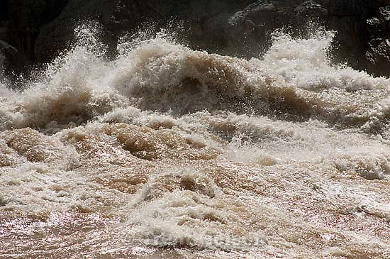 Crystal Rapid. Grand Canyon flood trip.<br />