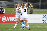 Piscataway, NJ - Sunday April 30, 2017: Brittany Ratcliffe, Lo'eau LaBonta during a regular season National Women's Soccer League (NWSL) match between Sky Blue FC and FC Kansas City at Yurcak Field.