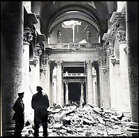 BNPS.co.uk (01202 558833)<br /> Pic:  ChiswickAuctions/BNPS<br /> <br /> The Reichstag left in ruins, May 1945.<br /> <br /> Remarkable previously unseen photos documenting the momentous closing stages of World War Two and its historic aftermath have come to light.<br /> <br /> They were taken by Sergeant Charles Hewitt, of the Army Film and Photographic Unit, who later went on to work for the Picture Post and the BBC.<br /> <br /> He was present at many of the important offensives of 1944 and '45 including the Battle of Monte Cassino during the Italian Campaign and the Allies advance into Germany following the D-Day invasion.