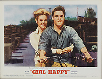 Girl Happy (1965) <br /> Lobby card with Elvis Presley &amp; Shelley Fabares<br /> *Filmstill - Editorial Use Only*<br /> CAP/MFS<br /> Image supplied by Capital Pictures