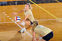 27 September 2008:  FIU outside hitter Ines Medved (11) keeps the ball in play during the second set of the FIU 3-0 (25-13, 25-23, 25-18) victory in straight sets over Troy at Golden Panther Arena in Miami, Florida.