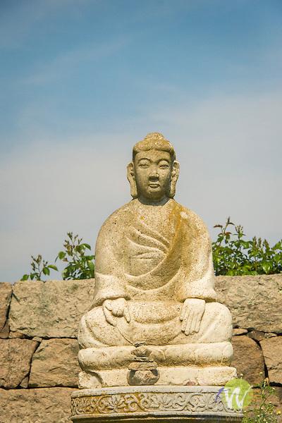 Harkness Memorial State Park. East Garden Buddha