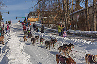 Sebastien Dos Santos Borges on Cordova St. hill during the Anchorage start day of Iditarod 2018 on Cordova St. hill during the Anchorage start day of Iditarod 2019