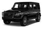 2019 Mercedes Benz G-Class G-550 5 Door SUV angular front stock photos of front three quarter view