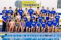 Picture by Rogan Thomson/SWpix.com - 08/12/2017 - Swimming - Team Bath Karen Bowen Feature -  Bath University, Bath, England - Club volunteer Karen Bowen poses with members of Team Bath AS before training.