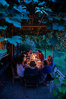 Dinner at the Orange Create. The Barn. Bridgehampton, New York 2012