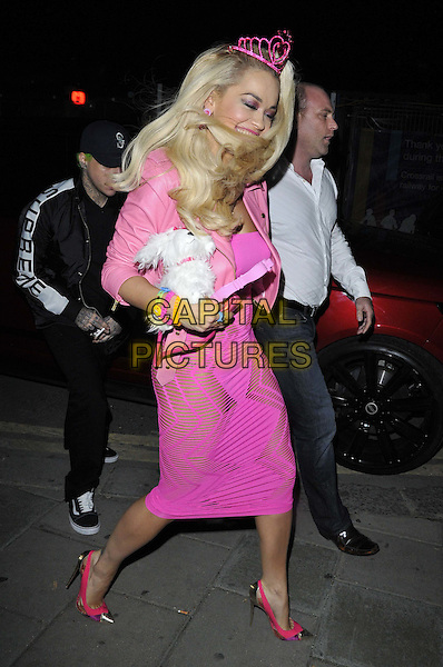 LONDON, ENGLAND - OCTOBER 31: Rita Ora attends the &quot;Death Of A Geisha&quot; VIP Halloween party, Cafe KaiZen, Hanover Square, on Friday October 31, 2014 in London, England, UK. <br /> CAP/CAN<br /> &copy;Can Nguyen/Capital Pictures