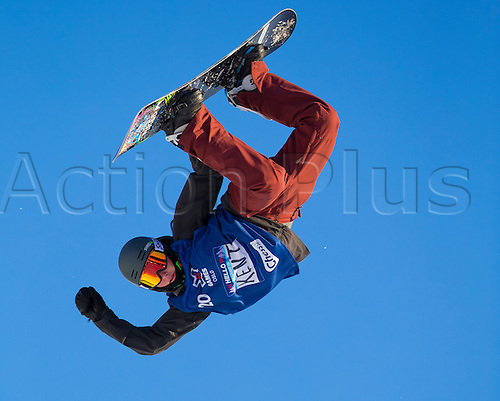 25.02.2016. Wyller Oslo Winter Park, Oslo, Norway.  X Games Oslo 2016. Mens Snowboard SuperPipe Round 1. Kent Callister of Australia  competes in the men's Snowboard SuperPipe elimination  during the X Games Oslo 2016 at the Wyller Oslo winter park in Oslo, Norway.