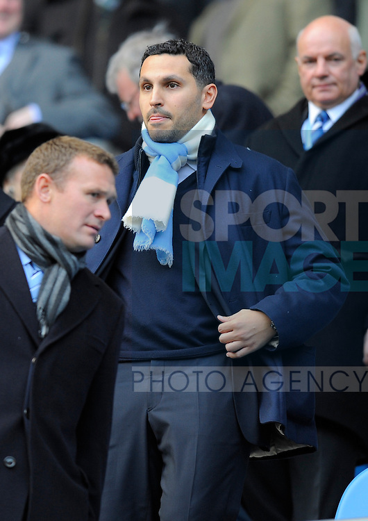 Khaldoon Al Mubarak chairman of Manchester City.Barclays Premier League.Manchester City v Tottenham at the Eithad Stadium, Manchester 22nd January, 2012..Sportimage +44 7980659747.picturedesk@sportimage.co.uk.http://www.sportimage.co.uk/.Editorial use only. Maximum 45 images during a match. No video emulation or promotion as 'live'. No use in games, competitions, merchandise, betting or single club/player services. No use with unofficial audio, video, data, fixtures or club/league logos.