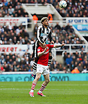 DeAndre Yedlin of Newcastle United in action with Ryan Kent of Barnsley during the EFL Championship match at St James' Park Stadium, Newcastle upon Tyne. Picture date: May 7th, 2017. Pic credit should read: Jamie Tyerman/Sportimage