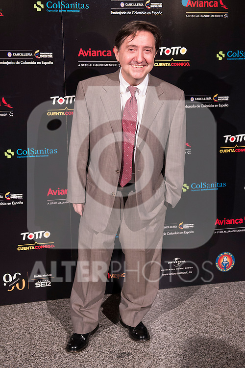 Federico Jiménez Losantos attends the photocall before the concert of colombian singer Juanes in Royal Theater in Madrid, Spain. July 23, 2015.<br />  (ALTERPHOTOS/BorjaB.Hojas)