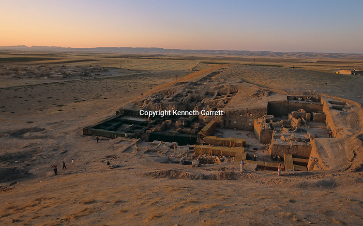 Urkesh; Hurrian; Empire; Syria; 2400 BC; Giorgio Buccellati; Archaeology; archaeologist; EAME, Palace excavation scenic