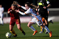 Jenny Bitzer of AS Roma and Noemi Visentin of Roma CF compete for the ball during the Women Italy cup round of 8 second leg match between AS Roma and Roma Calcio Femminile at stadio delle tre fontane, Roma, February 20, 2019 <br /> Foto Andrea Staccioli / Insidefoto