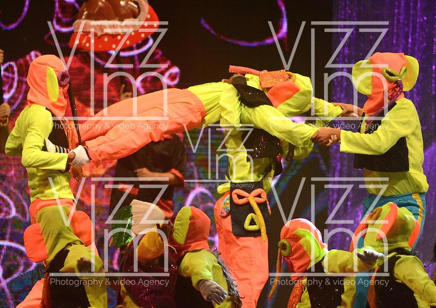 BARRANQUILLA-COLOMBIA- 17-01-2015. Con la Lectura del Bando,la Reina del Carnaval de Barranquilla 2015 Cristina Felfle Fernández De Castro comenzó a mandar desde la noche de este sábado, tras un soberbio espectáculo dancístico musical. El evento se realizó en la Plaza de La Paz./ With Reading Bando, the Barranquilla Carnival Queen 2015 Cristina Felfle Fernandez De Castro began to command from this Saturday night after a superb show's dance musical. The event was held at the Plaza de La Paz en Barranquilla, Colombia. Photo: VizzorImage/Alfonso Cervantes/STR