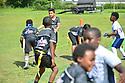 MIRAMAR, FL - MAy 18: Miramar Flag football league final game and trophy ceremony at Vizcaya Park of Miramar on May 18, 2019 in Miramar, Florida. ( Photo by Johnny Louis / jlnphotography.com )