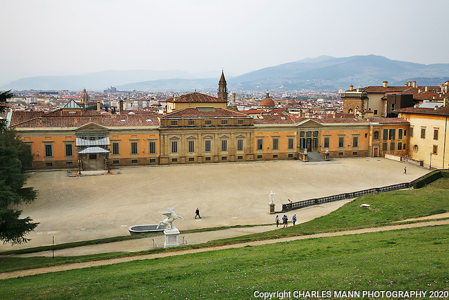 The Pitti Palace with the attached Boboli Gardens is a major attraction on the south side of the Arno River not far from the Ponte Vecchio.