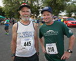 Floyd Whiting, age 78, has run this race more than 30 times, and Robert Johnson has run the event 31 times, before the 51st Annual Journal Jog in  Reno on Sunday, Sept. 8, 2019.