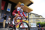 Tony Martin (GER) Team Katusha Alpecin at sign on in Dusseldorf before the start of Stage 2 of the 104th edition of the Tour de France 2017, running 203.5km from Dusseldorf, Germany to Liege, Belgium. 2nd July 2017.<br /> Picture: Eoin Clarke | Cyclefile<br /> <br /> <br /> All photos usage must carry mandatory copyright credit (&copy; Cyclefile | Eoin Clarke)
