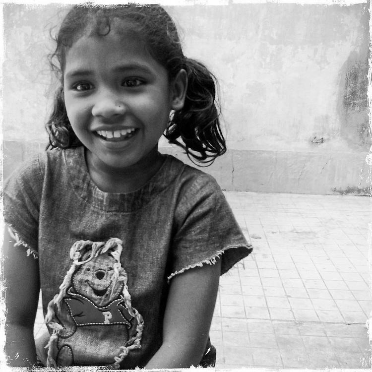 Ruksana, 10, World Vision-sponsored child, in Kolkata, India.
