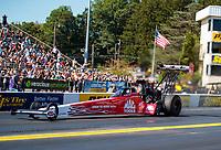 Sep 15, 2019; Mohnton, PA, USA; NHRA top fuel driver Doug Kalitta during the Reading Nationals at Maple Grove Raceway. Mandatory Credit: Mark J. Rebilas-USA TODAY Sports