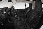 Front seat view of a 2018 Smart fortwo prime coupe 3 Door micro car front seat car photos