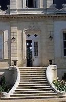Europe/France/Aquitaine/33/Gironde: Le Château de Lamotte-de-Haux (AOC Premières côtes de Bordeaux) - Détail de la façade