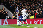 Tottenham's Moussa Sissoko celebrates with Serge Aurier after scoring to make it 3-0 during the Premier League match at the Tottenham Hotspur Stadium, London. Picture date: 30th November 2019. Picture credit should read: Paul Terry/Sportimage