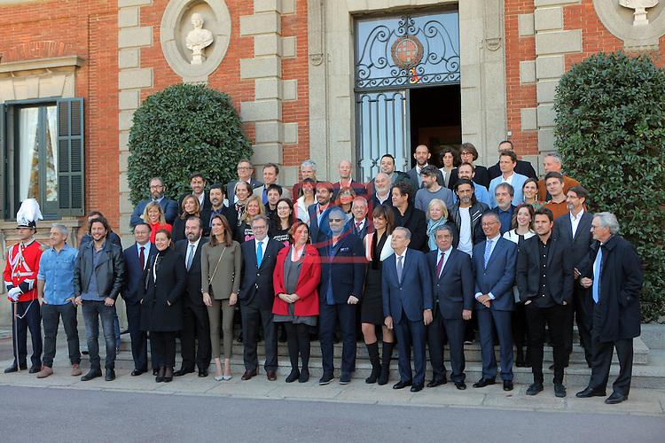 63 Premios Ondas.<br /> Palacete Albeniz-Encuentro con los medios.<br /> Foto de Familia.