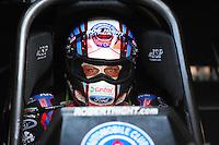 Jun. 15, 2012; Bristol, TN, USA: NHRA funny car driver Robert Hight during qualifying for the Thunder Valley Nationals at Bristol Dragway. Mandatory Credit: Mark J. Rebilas-