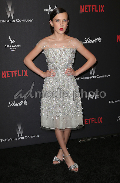 08 January 2016 - Beverly Hills, California - Millie Bobby Brown. 2017 Weinstein Company And Netflix Golden Globes After Party held at the Beverly Hilton. Photo Credit: F. Sadou/AdMedia
