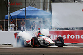 2017 Verizon IndyCar Series - Firestone Grand Prix of St. Petersburg<br /> St. Petersburg, FL USA<br /> Sunday 12 March 2017<br /> Sebastien Bourdais celebrates with donuts<br /> World Copyright: Phillip Abbott/LAT Images<br /> ref: Digital Image lat_abbott_stp_0317_12976