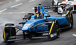 Formula E cars race during the first stop of the FIA Formula E Championship HKT Hong Kong ePrix at the Central Harbourfront Circuit on 9 October 2016, in Hong Kong, China. Photo by Victor Fraile / Power Sport Images