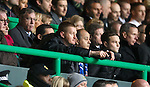 Steve Lomas in the stand after his ordering off
