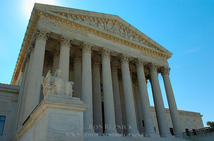 Supreme Court Building, Western Facade, Contemplation of Justice, Washington DC