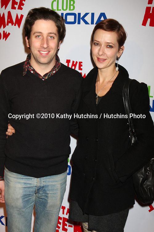 """Simon Helberg.arriving at the """"The Pee Wee Herman Show"""" Opening Night..Club Nokia.Los Angeles, CA.January 20, 2010.©2010 Kathy Hutchins / Hutchins Photo...."""