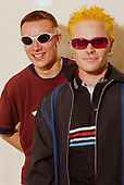 THE PRODIGY - Liam Howlett (L) and Keith Flint (R) - photosession in London UK - 1996.  Photo credit: Ray Palmer Archive/IconicPix