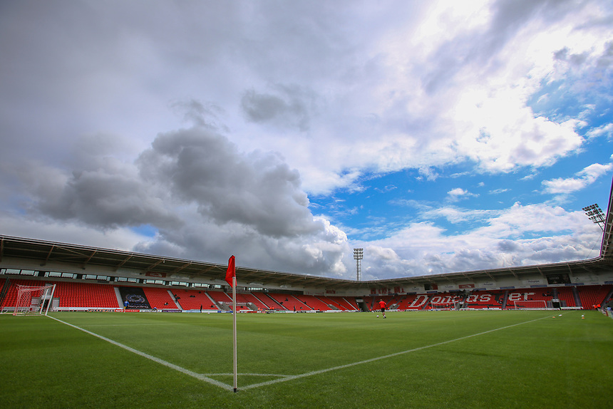 A general view of Keepmoat Stadium, home of Doncaster Rovers FC<br /> <br /> Photographer Alex Dodd/CameraSport<br /> <br /> The EFL Sky Bet League One - Doncaster Rovers v Blackpool - Saturday 19th August 2017 - Keepmoat Stadium - Doncaster<br /> <br /> World Copyright &copy; 2017 CameraSport. All rights reserved. 43 Linden Ave. Countesthorpe. Leicester. England. LE8 5PG - Tel: +44 (0) 116 277 4147 - admin@camerasport.com - www.camerasport.com