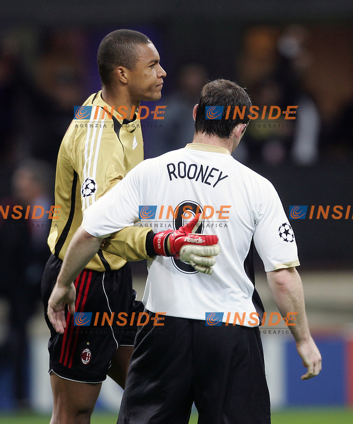 Nelson Dida (Milan) Wayne Rooney (Manchester)<br /> Champions League 2006-07 <br /> 3 May 2007 (Semifinal 2nd leg) <br /> Milan Manchester United (3-0) <br /> &quot;Giuseppe Meazza&quot; Stadium-Milano-Italy <br /> Photographer Andrea Staccioli INSIDE