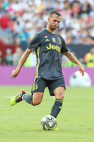 Landover, MD - August 4, 2018: Juventus midfielder Miralem Pjanic (5) in action during the match between Juventus and Real Madrid at FedEx Field in Landover, MD.   (Photo by Elliott Brown/Media Images International)
