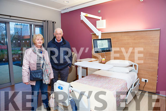 At the Kerry Hospice Foundation and HSE open day people to view the New In Patient Unit on Friday were Sheila and Jimmy O'Connell