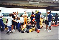 Ayrton Senna's last go-cart ride.